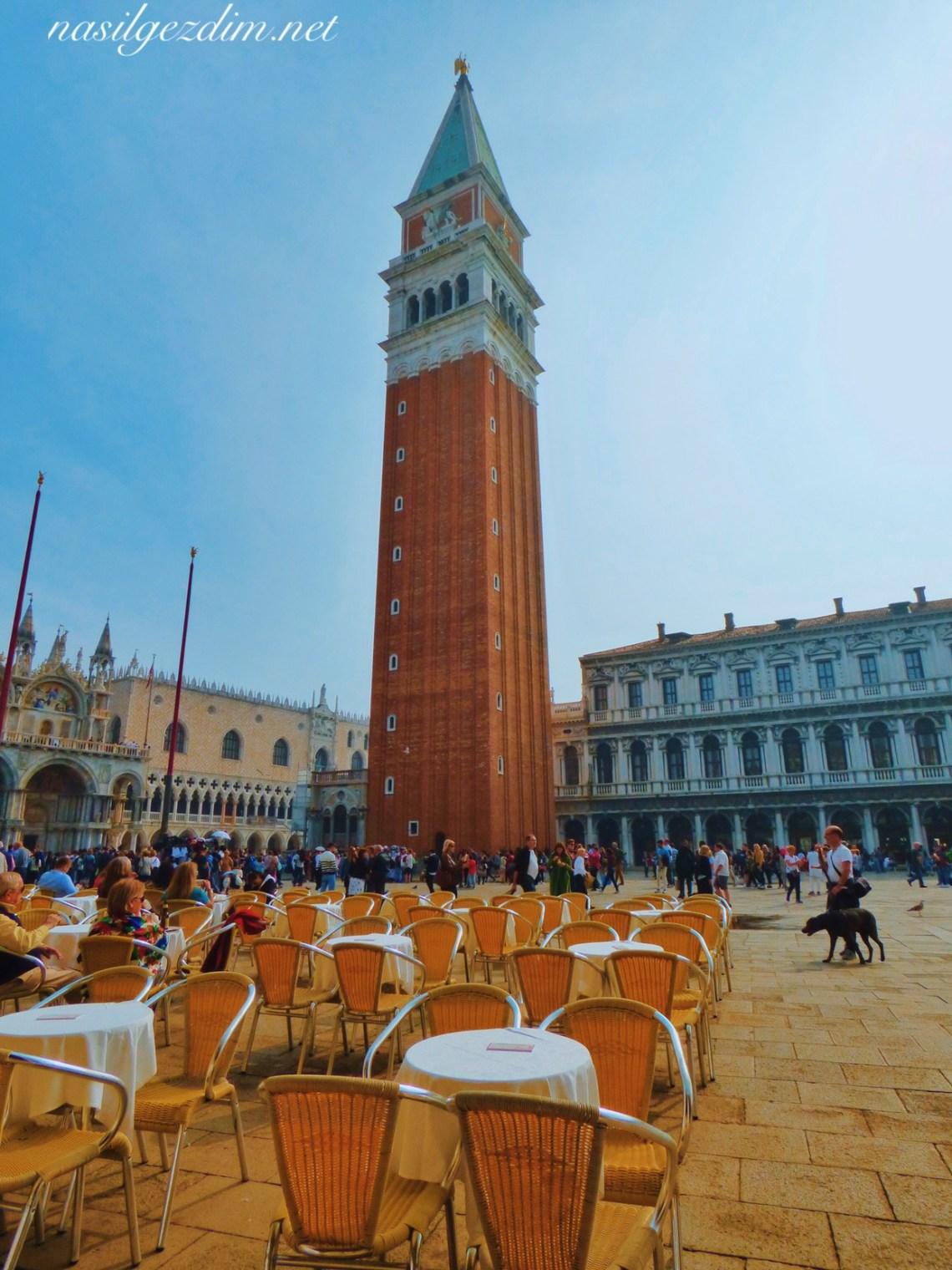 venedik gezi rehberi, venedik gezilecek yerler, venedik gezisi, nasil gezdim, nasilgezdim, St Marc's Campanile tower
