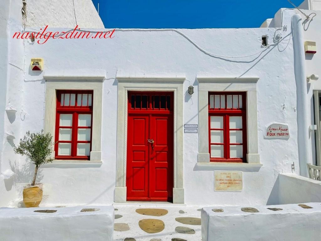 lena's house lena'nın evi, house of lean, mykonos gezilecek yerler, mykonos gezisi