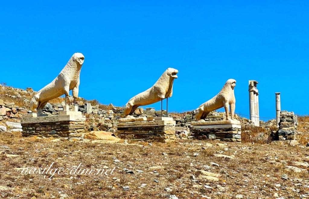 mykonos gezilecek yerler, terrace of the lions mykonos, mykonos gezi rehberi, delos island, delos adası