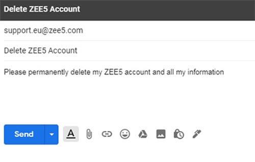 comment supprimer un compte zee5