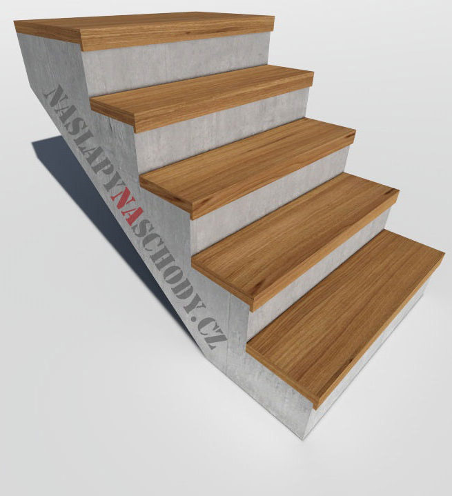 Dřevěné nášlapy, schodové stupně, obložení schodiště