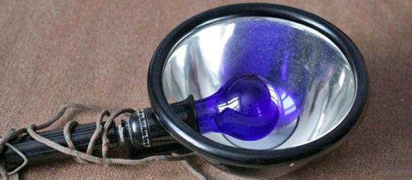 Синяя лампа для прогревания