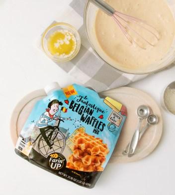 n' Up Le Fantastique Belgian Waffles Mix, Belgian Waffle Mix, waffle mix, waffle mix with pearl sugar, breakfast, breakfast foods,