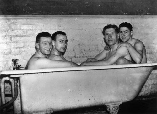 Gay black men football shower