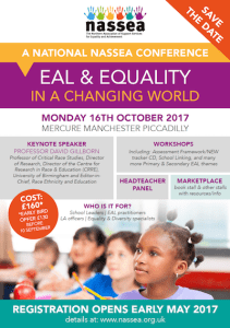 EAL & Equality in a Changing World - A National NASSEA Conference @ Mercure Manchester Piccadilly   England   United Kingdom