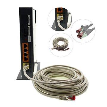 1aTTack CAT6 CAT 6 Netzwerk-Patch-Kabel SET (10 Stück) 0,5m 0,5 Meter - SFTP - doppelt geschirmt PIMF + GEFLECHT - Twisted Pair mit 2 x RJ45 Stecker und vergoldeten Kontaktflächen - grau - 7