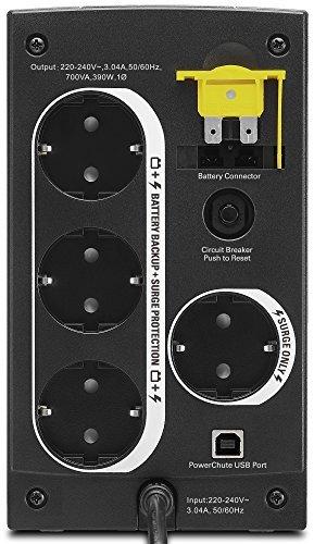 APC Back-UPS BX - Unterbrechungsfreie Stromversorgung 700VA, BX700U-GR (AVR, 4 Schuko Ausgänge, USB) schwarz - 2
