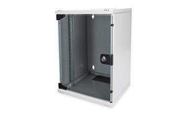 "DIGITUS Professional 10"" Wandgehäuse, Netzwerk-/Serverschrank – 9HE – stabiles Gehäuse – 10 Zoll (254 mm) – Grau - 1"