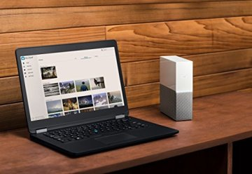 WD My Cloud Home 4 TB - Persönlicher Cloudspeicher - externe Festplatte – WLAN, USB 3.0, zentrales Speichern, Videostreaming - WDBVXC0040HWT-EESN - 4