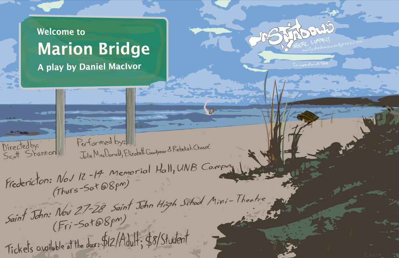 Marion Bridge by Daniel MacIvor with runs in Fredericton (Nov 12-14) & Saint John (Nov 27-28)