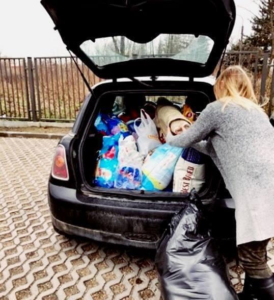 Bagażnik pełen darów dla czworonogów, czyli zbiórka dla azylowych bezdomniaków w Naszej Szkole!