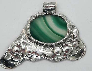 Zielona agatowa płytka