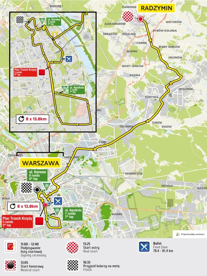 etap 1 mapa Tour de Pologne 2016 UCI World Tour