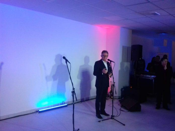 Adam Lewandowski, Burmistrz Śremu podczas oficjalnego otwarcia basenu w Śremie