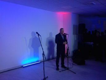Daniel Cicharski, Prezes Śremskiego Sportu podczas oficjalnego otwarcia basenu w Śremie