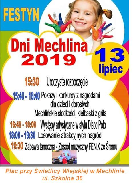 Dni Mechlina 2019 plakat i program imprezy