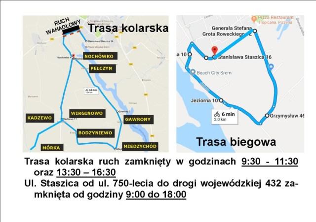 Utrudnienia drogowe: 15 września wystartuje Śrem Triathlon