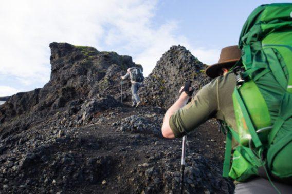 Hiking Fimmvorduhals. Photo: Greg Maino, Juskuz.com