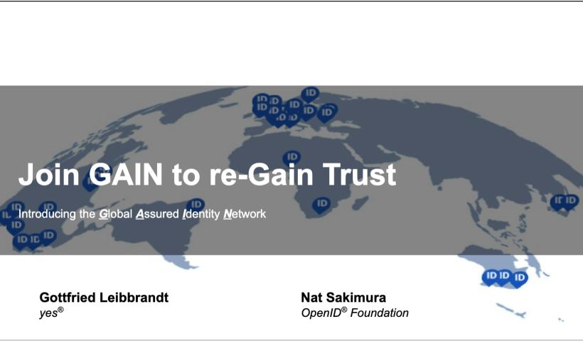 GAIN Intro Slide title page