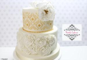 Decoración de torta con fondant
