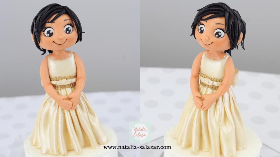 Natalia Salazar modelado en azúcar