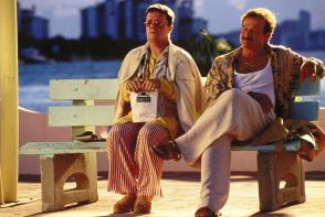 Albert (Nathan Lane) on the left, Armand (Robin Williams) on the right. Picture from the Independent.