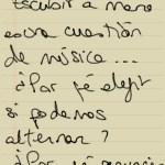 Escribir a mano es una cuestión de música