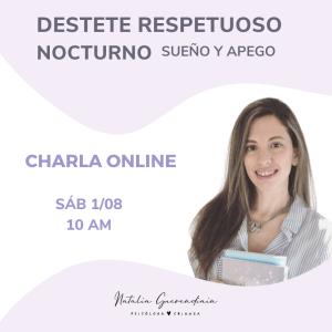 Charla online – Desteste respetuoso nocturno