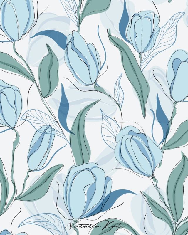 Tulips pattern by Natalia Kodi