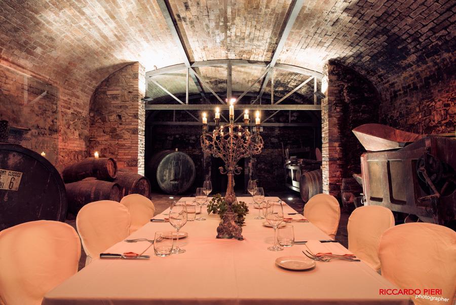 have your wedding reception in the historic cellar of Villa Dievole