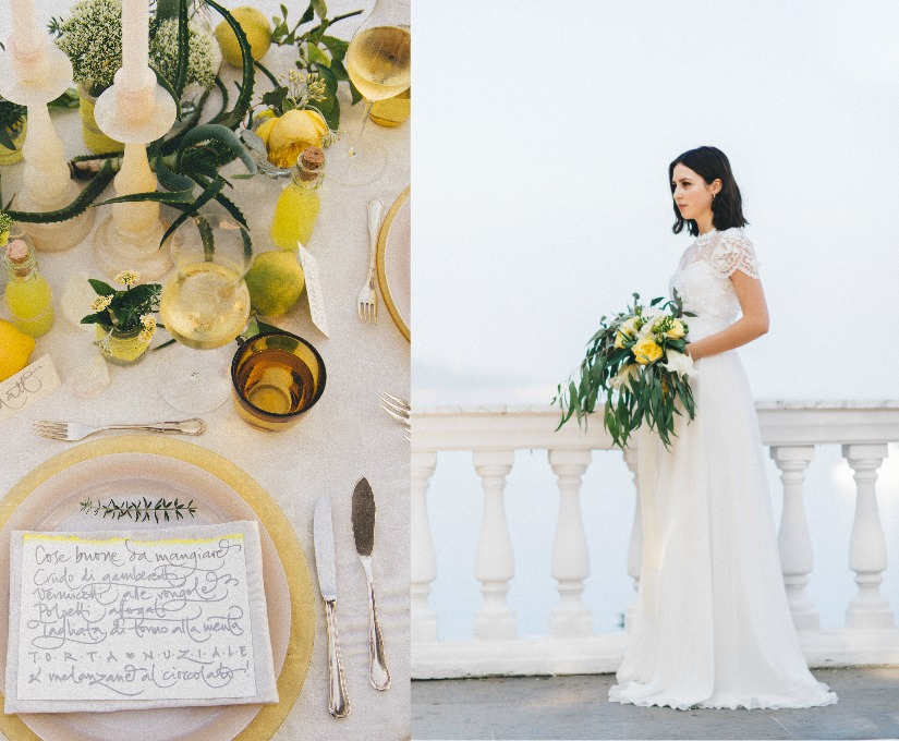 Bright yellow wedding color palette 2016
