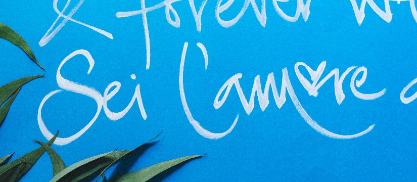 Amalfi wedding calligraphy