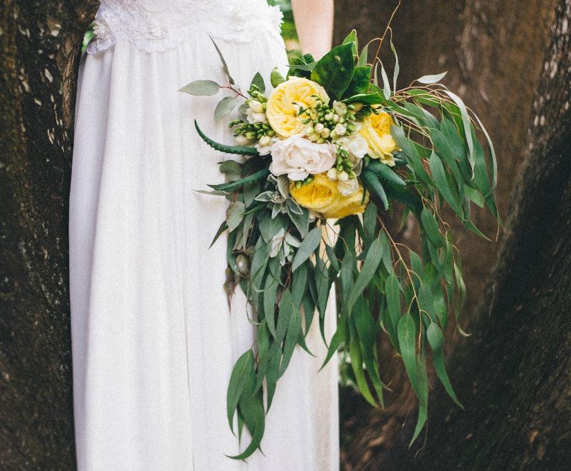 Yellow garden roses for our Limoncello themed wedding