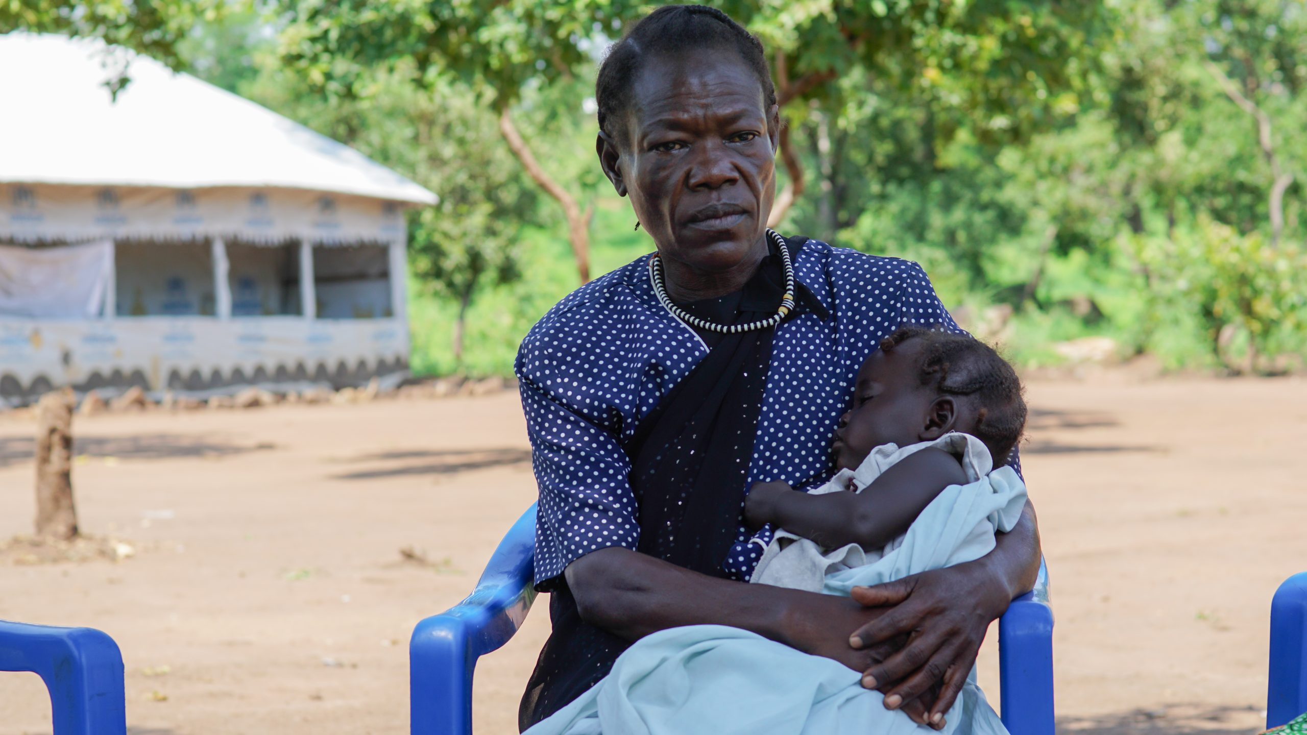 Mariam along with her pregnant daughter and her three children managed to escape the conflict in South Sudan in august 2016. They found refuge at the Bidibidi Refugee Camp in Uganda. Mariam's daughter pass away shortly after having given birth to her fourth child.