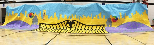 Middle School Rally Backdrop
