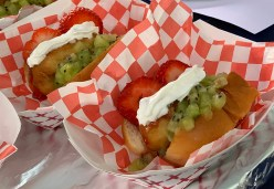 Sacramento County Fair Hawaiian Dog Dessert