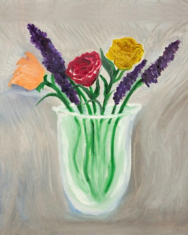 Vase of Flowers oil painting by artist Natalie Buske Thomas