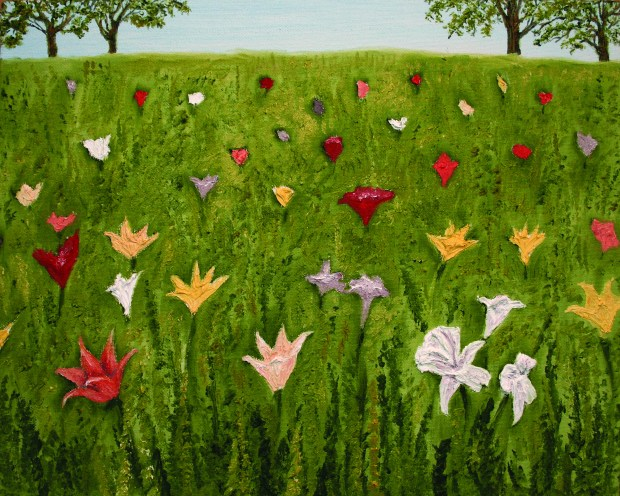 Consider the Lilies oil painting 300 dpi by Natalie Buske Thomas