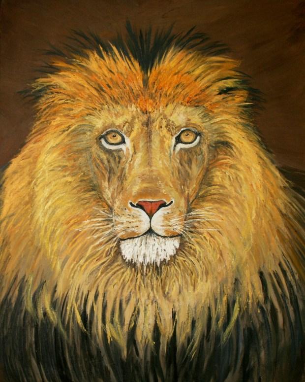 Lion oil Judah oil painting by Natalie Buske Thomas copy