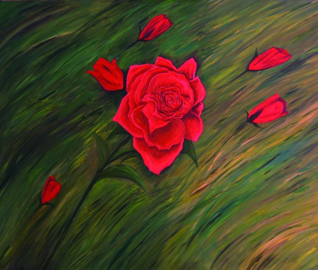 Rose of Joy oil painting 300 dpi by Natalie Buske Thomas