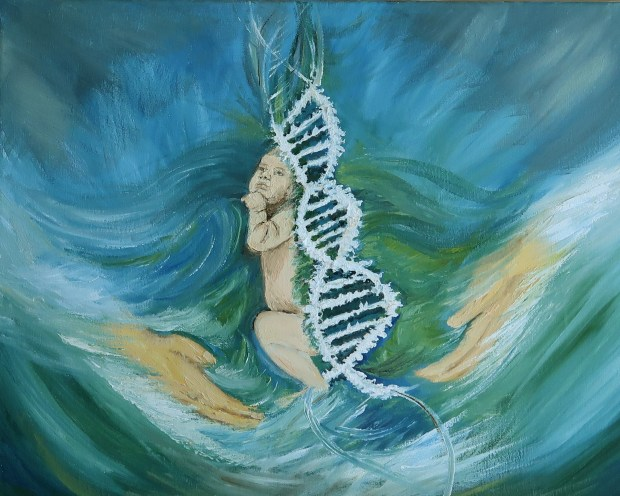 Miracle of Life oil painting by Natalie Buske Thomas