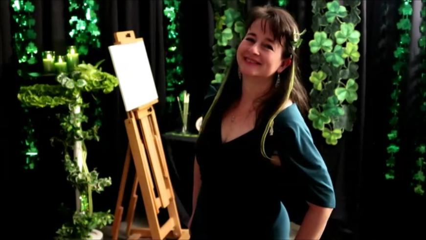 Natalie Buske Thomas artist oil painter entertainer March 2021