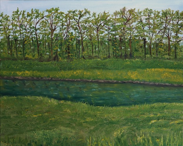 Wooded Lagoon oil painting by artist Natalie BuskeThomas