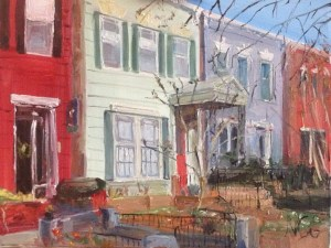 "Original Oil Painting: ""2118 Hanover"" Oil on Canvas, 18"" x 24"""