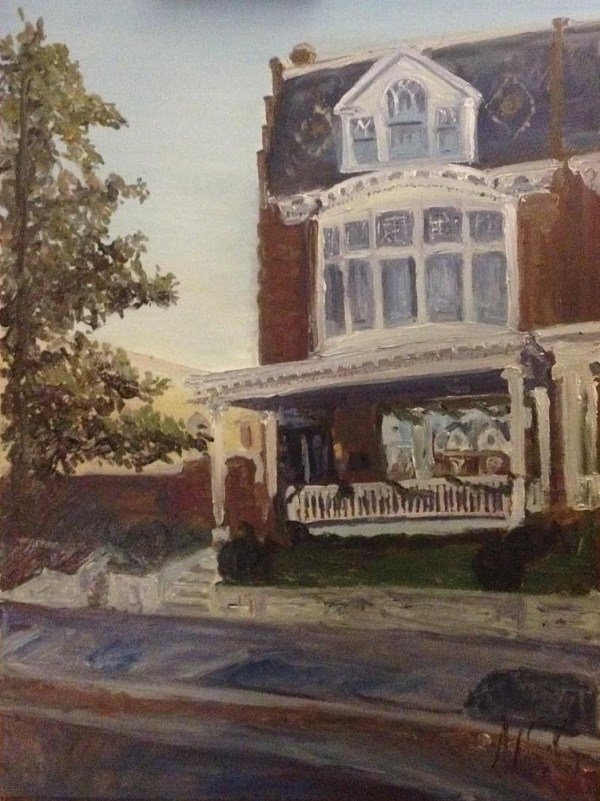 "House Painting in Oil Painting: ""House on Monument"" Oil on Canvas, 24"" x 18"""