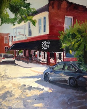 "Original Oil Painting-Scenes of Richmond: ""Joe's Inn"" Oil on Canvas, 30""x 24"""