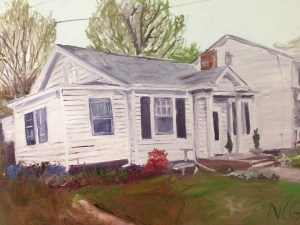 "House Portrait in Oil Painting: ""North Side House"" 18"" x 24"""