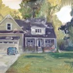 "House Portrait in Oil Painting: ""Untitled House Portrait"" Oil on Canvas, 18"" x 24"""
