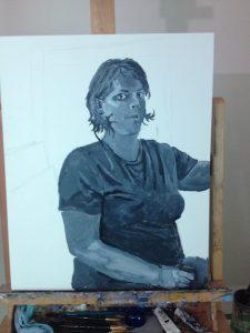 Painting Process: gouache underlpainting.