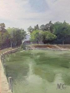 "Original Oil Painting:""River House in Callao, VA"" Oil on Canvas, 24""x 18"""